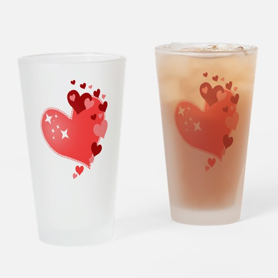 I Love You Hearts Drinking Glass
