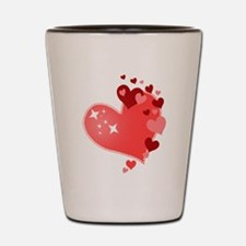 I Love You Hearts Shot Glass