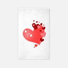 I Love You Hearts 3'x5' Area Rug