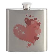 I Love You Hearts Flask