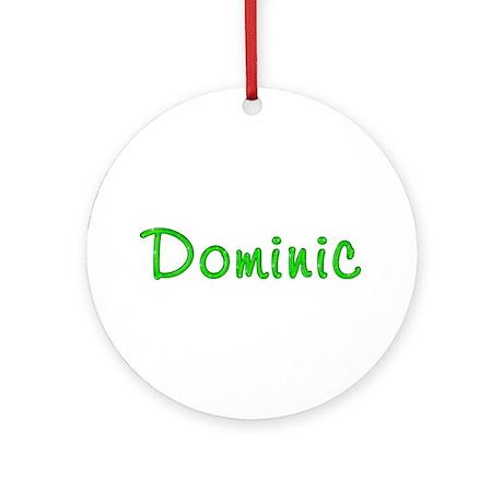 Dominic Glitter Gel Round Ornament