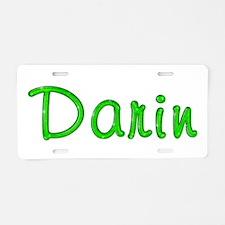 Darin Glitter Gel Aluminum License Plate