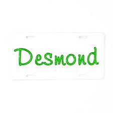 Desmond Glitter Gel Aluminum License Plate