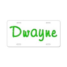 Dwayne Glitter Gel Aluminum License Plate