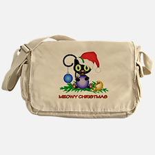 Meowy Christmas Messenger Bag