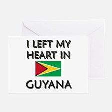 I Left My Heart In Guyana Greeting Cards (Package