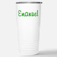 Emanuel Glitter Gel Stainless Steel Travel Mug