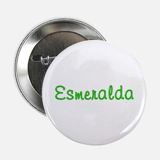 Esmeralda Glitter Gel Button