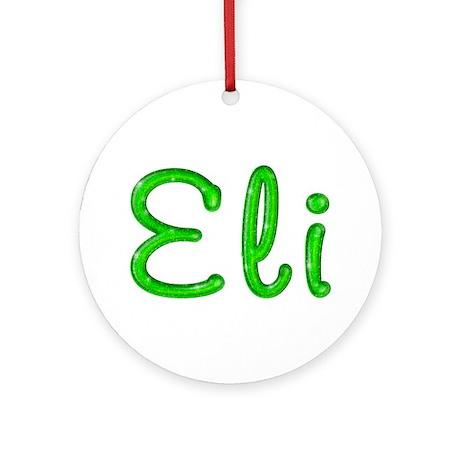 Eli Glitter Gel Round Ornament