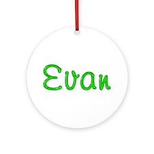 Evan Glitter Gel Round Ornament