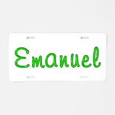 Emanuel Glitter Gel Aluminum License Plate