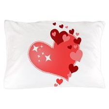 I Love You Hearts Pillow Case