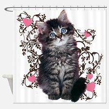 Cute Kitten Kitty Cat Lover Shower Curtain