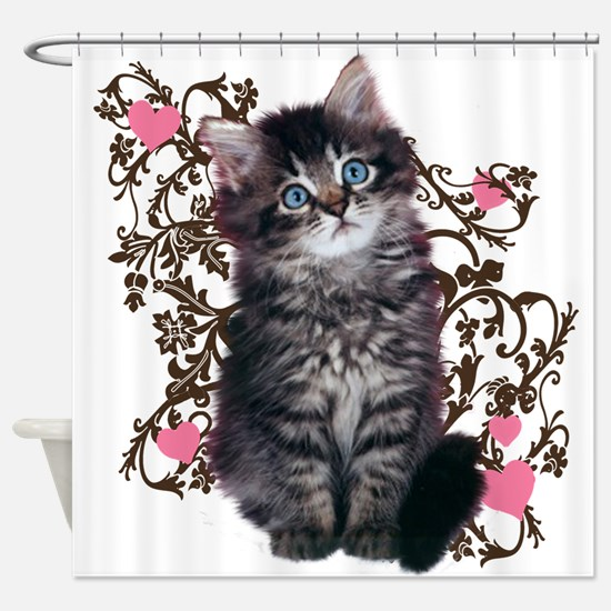 Cute Kitten Kitty Cat Lover Shower Curtain