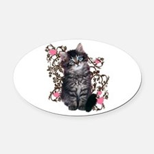 Cute Kitten Kitty Cat Lover Oval Car Magnet
