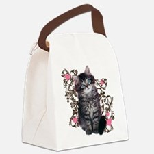 Cute Kitten Kitty Cat Lover Canvas Lunch Bag