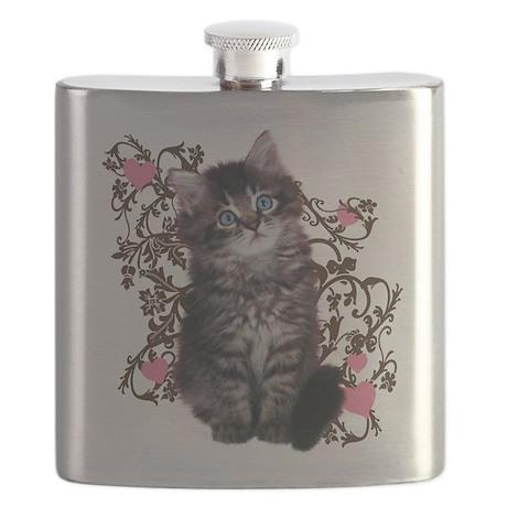 Cute Kitten Kitty Cat Lover Flask