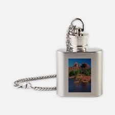 Cathedral Rock Sedona - Vertical.jpg Flask Necklac