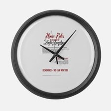 Zombie Apocalypse House Rules Large Wall Clock