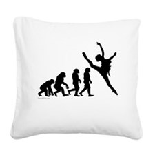 Evolution of Dance Square Canvas Pillow
