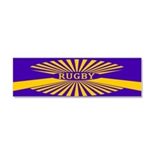 Rugby Spokes Gold Purple Car Magnet 10 x 3