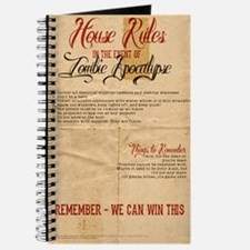 Zombie Apocalypse House Rules Vintage Journal