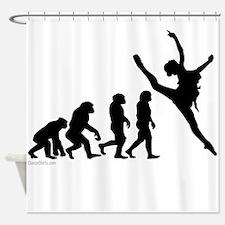Evolution of Dance Shower Curtain