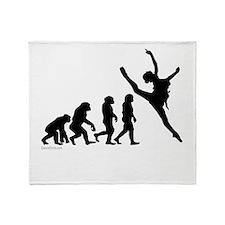 Evolution of Dance Throw Blanket