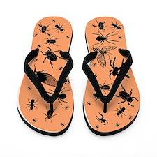 Creepy bug flip flops/thongs in orange