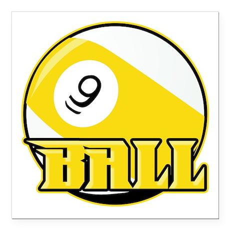 "9 Ball Square Car Magnet 3"" x 3"""