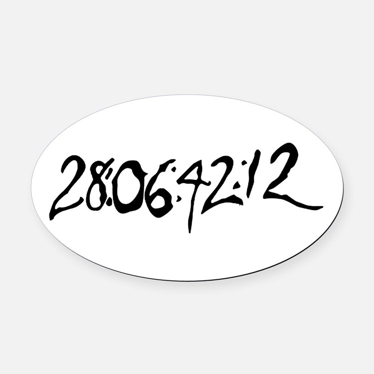 End Of World Oval Car Magnet