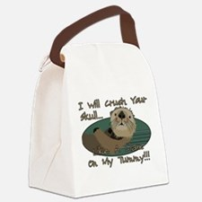 Otter Skull Crush Canvas Lunch Bag