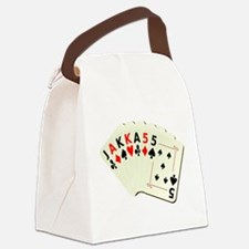 JackassCardsDesign2.png Canvas Lunch Bag