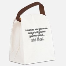 MomLiedDesign2.png Canvas Lunch Bag