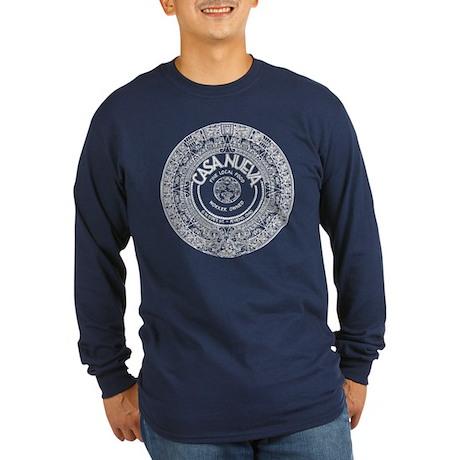 White Aztec Calendar Logo Long Sleeve T-Shirt