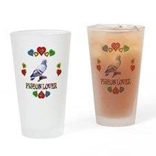 Pigeon Lover Drinking Glass