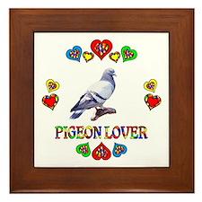Pigeon Lover Framed Tile