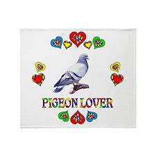 Pigeon Lover Throw Blanket