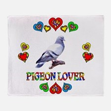Pigeon Lover Throw Blanket