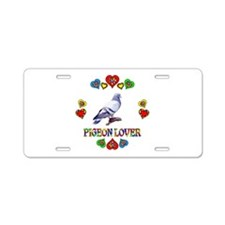 Pigeon Lover Aluminum License Plate
