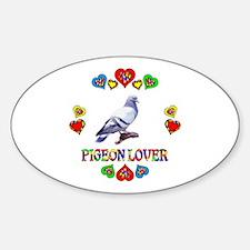 Pigeon Lover Sticker (Oval)
