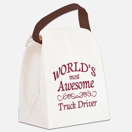 Awesome Truck Driver Canvas Lunch Bag