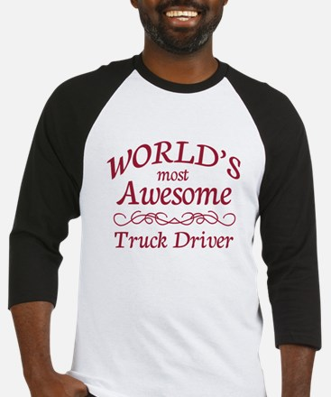Awesome Truck Driver Baseball Jersey