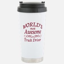 Awesome Truck Driver Stainless Steel Travel Mug