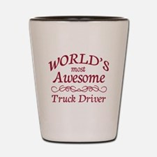 Awesome Truck Driver Shot Glass