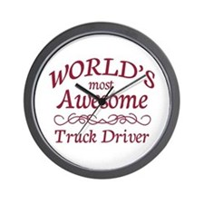 Awesome Truck Driver Wall Clock
