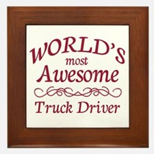 Awesome Truck Driver Framed Tile