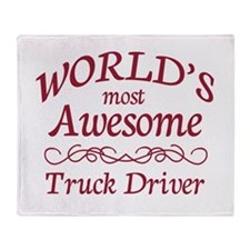 Awesome Truck Driver Throw Blanket