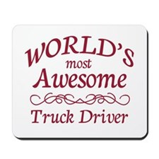Awesome Truck Driver Mousepad