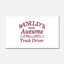 Awesome Truck Driver Car Magnet 20 x 12